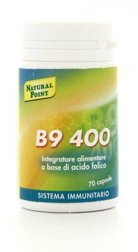 Integratore Naturale B9 400  con Acido Folico