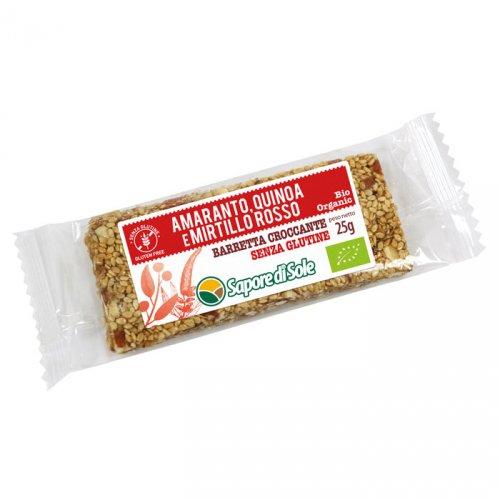 Barretta Croccante Amaranto Quinoa e Mirtillo Rosso Bio