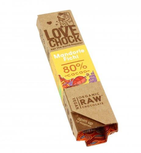 Barretta Fondente con Mandorle e Fichi 80% Cacao