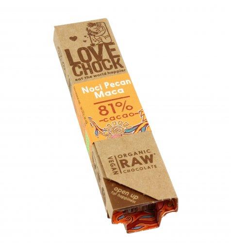 Barretta Fondente di Noci Pecan e Maca 81% Cacao