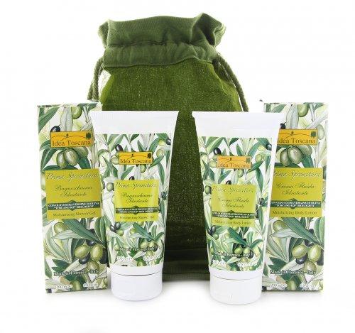 Beauty Case Verde Crema Corpo e Bagnoschiuma