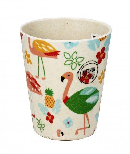 Bicchiere in Bambù - Flamingo