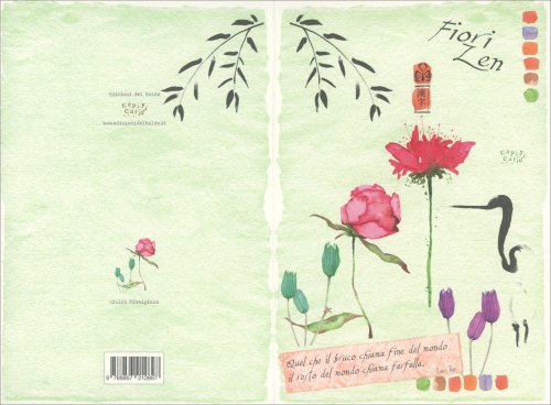 Biglietto d'Auguri - Fiori Zen Rose Rosse