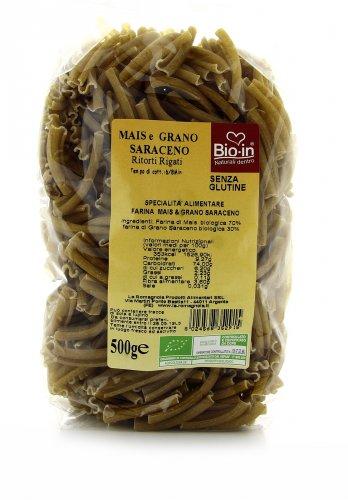Ritorti Rigati di Mais e Grano Saraceno Bio - Senza Glutine