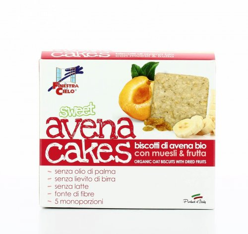 Biscotti Sweet Avena Cakes Muesli e Frutta
