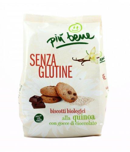 Biscotti Bio alla Quinoa con Gocce di Cioccolato - Senza Glutine