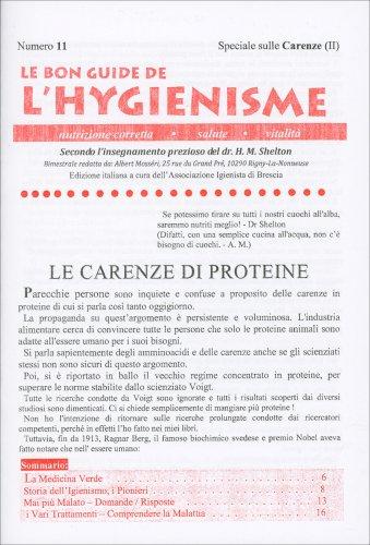 La Bon Guide de l'Hygienisme - Numero 11 - Speciale sulle Carenze