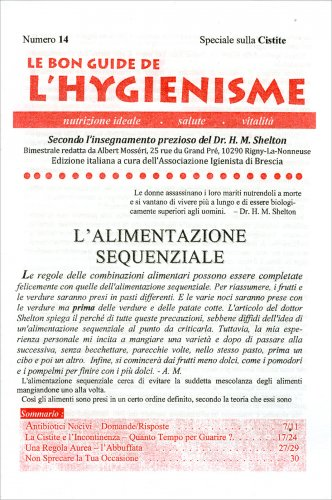 Le Bon Guide de l'Hygienisme - Numero 14 - Speciale sulla cistite