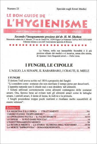 La Bon Guide de l'Hygienisme - Numero 23 - Speciale sugli Errori Medici