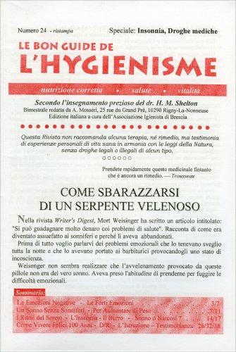 Le Bon Guide de l'Hygienisme - Numero 24 - Speciale su Insonnia, Droghe Mediche