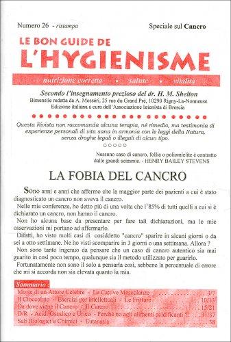 La Bon Guide de l'Hygienisme - Speciale sul Cancro