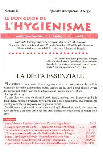 La Bon Guide de l'Hygienisme - Numero 35 - Speciale: Osteoporosi - Allergie