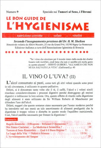 La Bon Guide de l'Hygienisme - Numero 9 - Speciale sui Tumori al Seno, i Fibromi