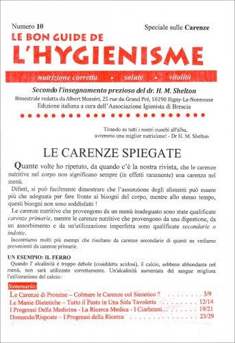 La Bon Guide de l'Hygienisme - Numero 10 - Speciale: Carenze