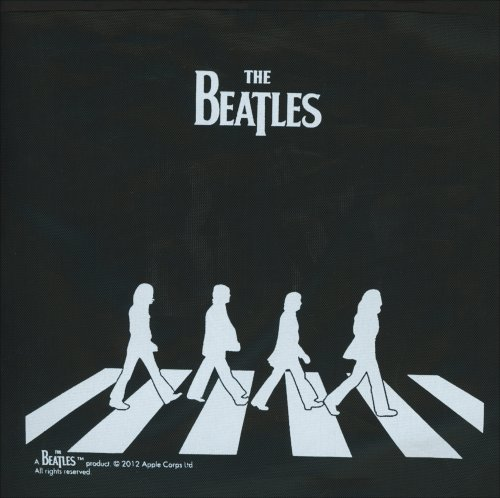 Borsa Pieghevole Nera - Beatles Abbey Road