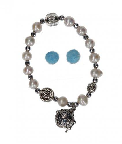 Bracciale Magnetico Aromaterapeutico con Perle