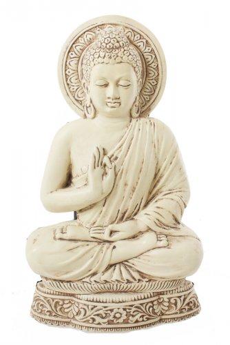 Riproduzione da Parete Buddha in Vitarka Mudra Bianca
