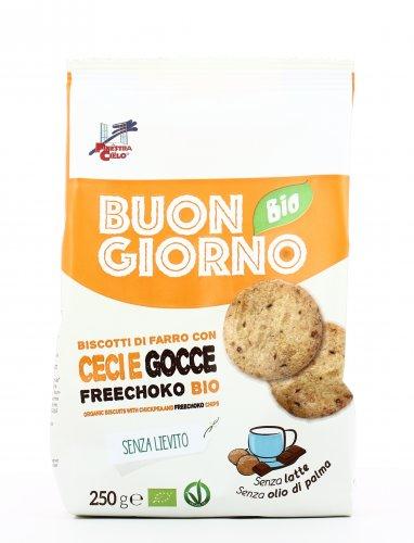 Buongiorno Bio - Biscotti di Farro con Ceci e Gocce Freechoko Bio