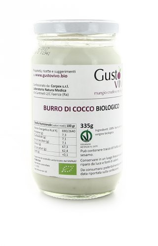 Burro di Cocco Biologico