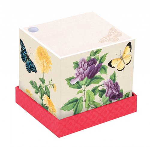 Memo Block Butterflies and Flowers - Winterthur Museum - 700 Fogli
