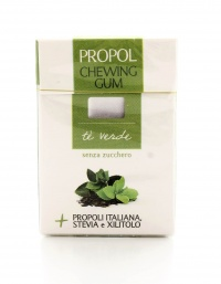 Chewing Gum con Propoli, Stevia e Xilitolo - Tè Verde