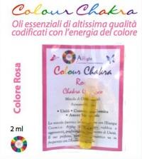 Colour Chakra Oil Rosa 2 ml - Unità, connessione Cosmica, Amore Universale