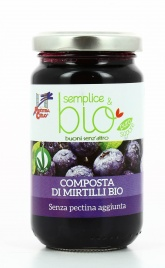 Composta di Mirtilli Senza Pectina Bio - Semplice&Bio