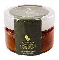 Composta di Prugne e Peperoncino con Stevia