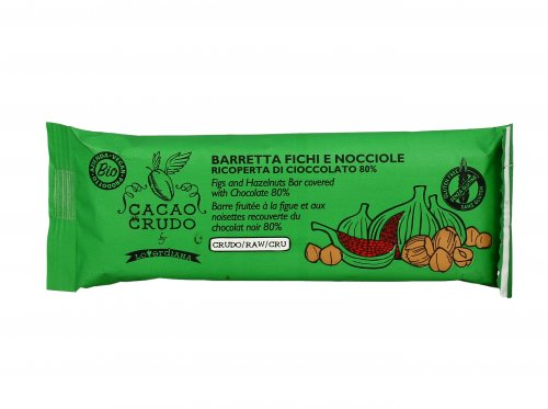 Barretta Fichi e Nocciole ricoperta di Cioccolato Fondente