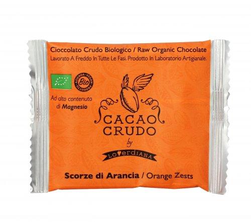 Cioccolato Fondente con Scorze di Arancia Bio