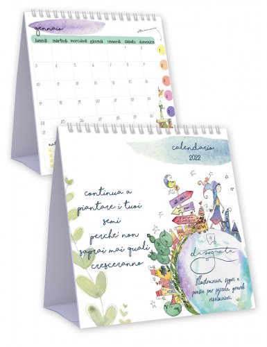 Calendario da Tavolo 2022 - Disegnata