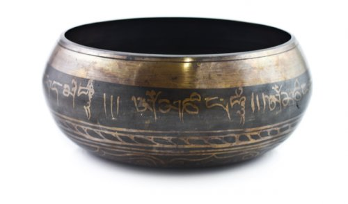 Campana Tibetana 8 Buddha Intarsiata