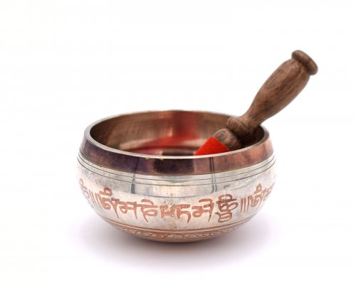 Campana Tibetana Argento