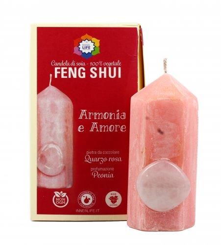 Candela Feng Shui - Quarzo Rosa