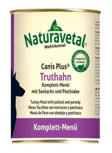 Canis Plus Menu Completo - Tacchino con Salmone e Pastinaca