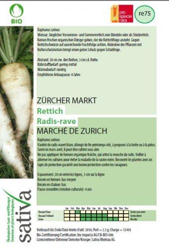 """Rafano Bianco """"Mercato di Zurigo"""" - re75"""