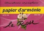 Carta Profumata Papier d'Armenie - La Rose