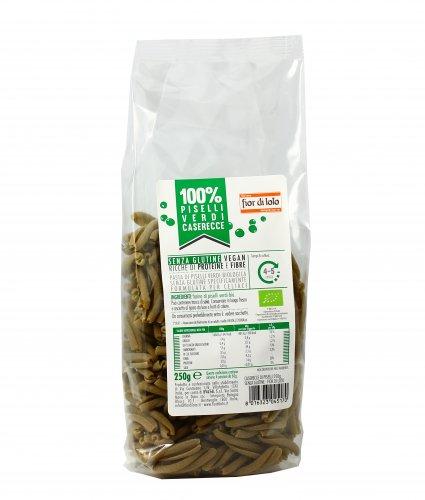 Caserecce di Piselli Verdi Bio - Senza Glutine