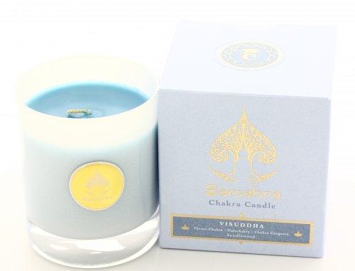 Visuddha Blu al Sandalo - Chakra Candle