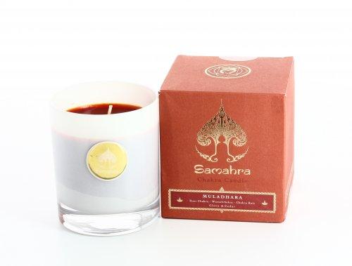 Muladhara Rosso con Garofano e Cedro - Chakra Candle