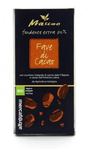 Cioccolato Fondente Extra con Pezzetti di Fave di Cacao