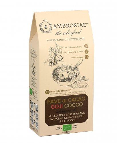 Granola Bio con Fave di Cacao, Goji e Cocco