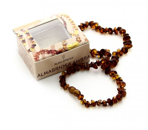 Collana Ambra - Mamma - Rounded Cognac