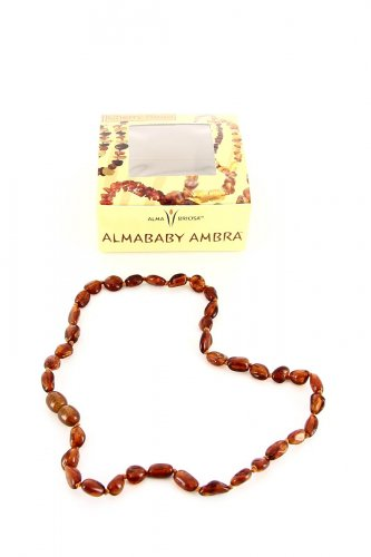 Collanina - Almababy Ambra Cherry Bean