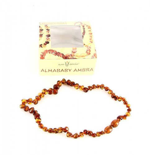 Collanina - Almababy Ambra Rounded Cognac