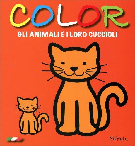 Color gli Animali e i Loro Cuccioli - Arancione