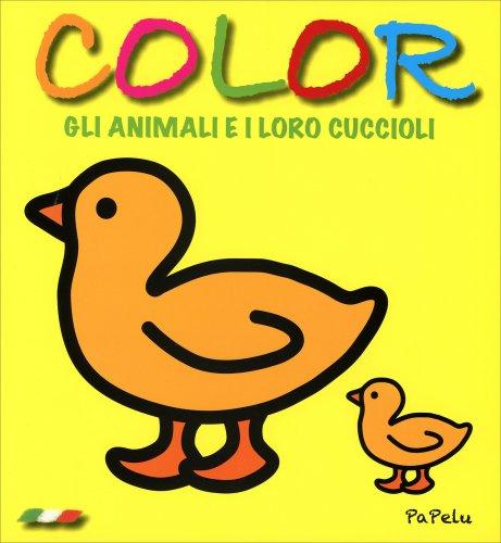 Color gli Animali e i Loro Cuccioli - Giallo