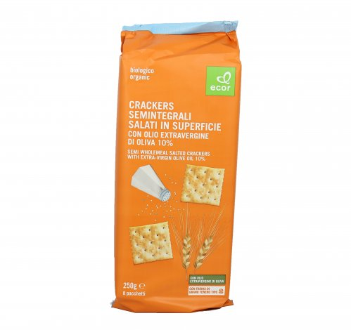 Crackers Semintegrali Salati in Superficie Bio