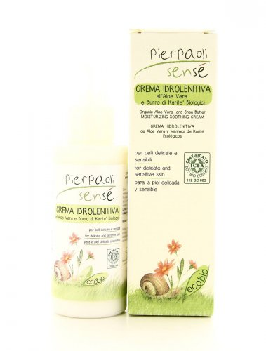 Crema Idrolenitiva per Bimbi - Aloe Vera e Burro di Karité