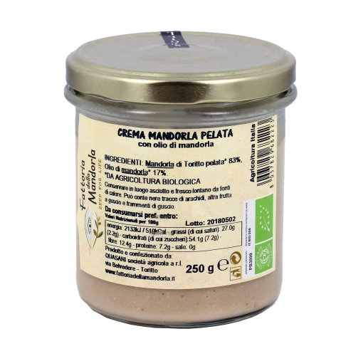 Crema Mandorla Pelata Bio